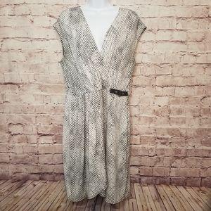Michael Kors faux wrap dress